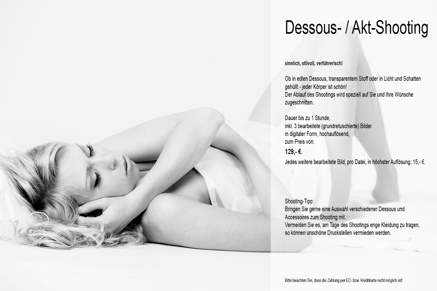 Dessous-Akt-Shooting-Angebot